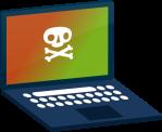 Technik_Geräte_Icon_laptop_infected