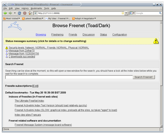 Freenet-Screenshot