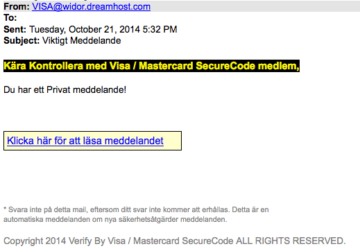 Screenshot Phishing e-Mail