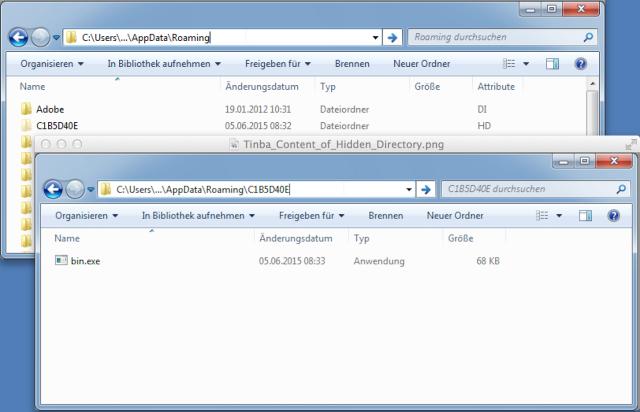 Tinba Directory Trojan
