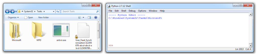 Windows Explorer (64bit) vs Python application (32bit)
