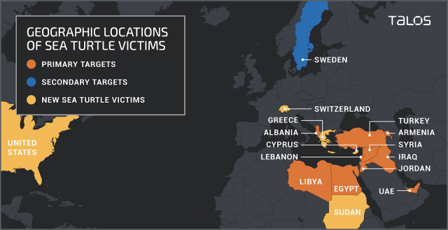 Geographic Location of Sea Turtle Victims by Talos